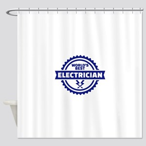 World's best electrician Shower Curtain