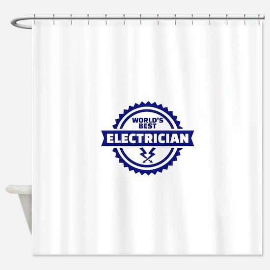 World's best electrician Shower Curtain
