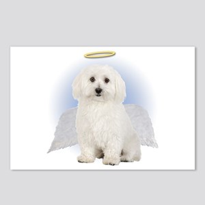 Angel Bichon Frise Postcards (Package of 8)