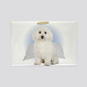 Angel Bichon Frise Rectangle Magnet