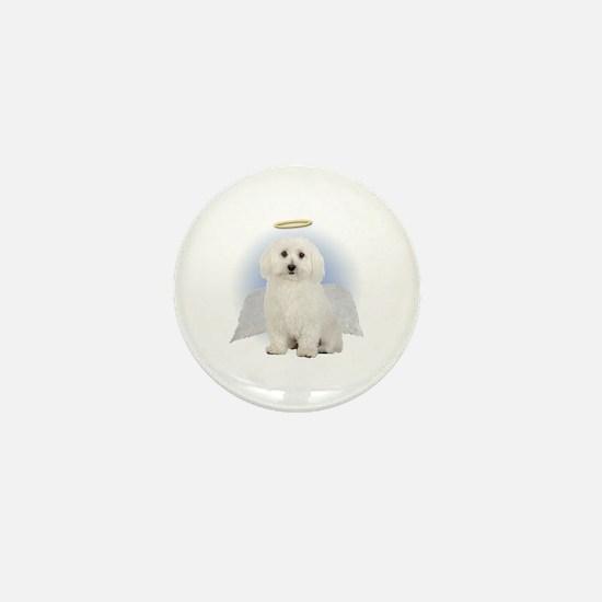 Angel Bichon Frise Mini Button