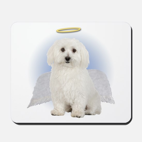 Angel Bichon Frise Mousepad