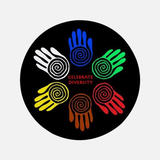 """Celebrate Diversity Circle 3.5"""" Button"""