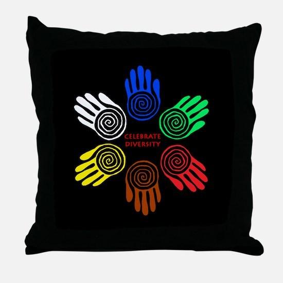 Celebrate Diversity Circle Throw Pillow