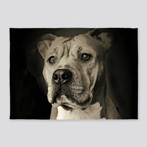 Sketch of Noble Pit Bull 5'x7'Area Rug