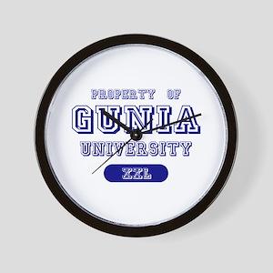 Property of Gunia University Wall Clock