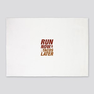 Run Now Tacos Later 5'x7'Area Rug