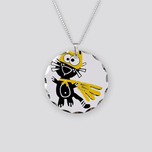 Catwoman Cat Women Girls Sup Necklace Circle Charm