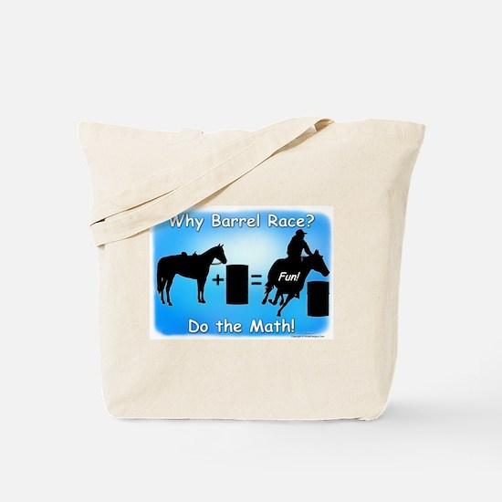 Barrel Racing Math Tote Bag