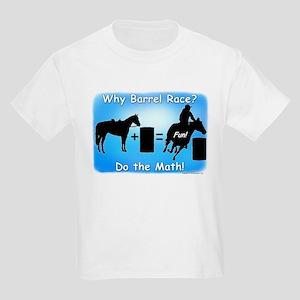 Barrel Racing Math Kids Light T-Shirt