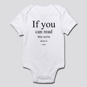 ...about to collide. Infant Bodysuit