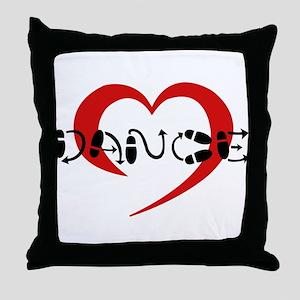 hearty dance Throw Pillow