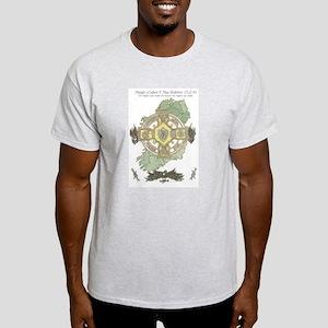 Gearoid Mag Uaid Design-MaghabPOW Ash Grey T-Shirt