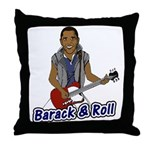Barack and Roll Funny Obama S Throw Pillow