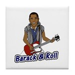 Barack and Roll Funny Obama S Tile Coaster