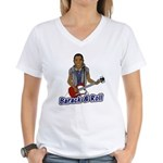 Barack and Roll Funny Obama S Women's V-Neck T-Shi