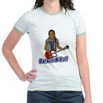 Barack and Roll Funny Obama S Jr. Ringer T-Shirt