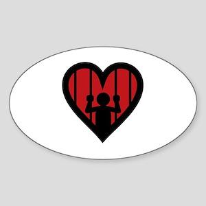 Love is a Jail Sticker