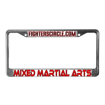 """FightersCircle.com"" MMA License Plate Frame"