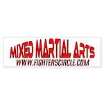 """""""FightersCircle.com"""" MMA Bumper Sticker"""