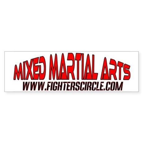 """FightersCircle.com"" MMA Bumper Sticker"