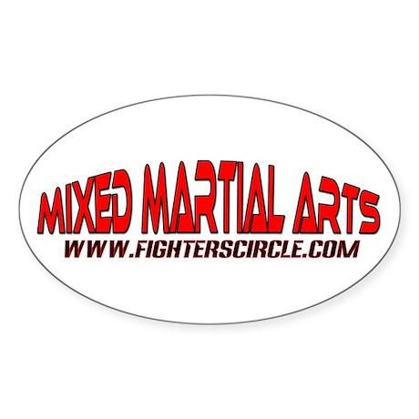 """FightersCircle.com"" MMA Oval Sticker"
