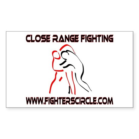 """FightersCircle.com"" Rectangle Sticker"
