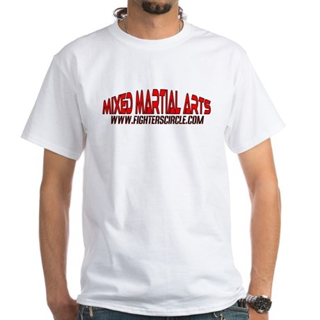 """""""FightersCircle.com"""" MMA White T-Shirt"""