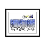 Snowstorms - Good Thing Framed Panel Print