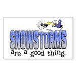Snowstorms - Good Thing Rectangle Sticker