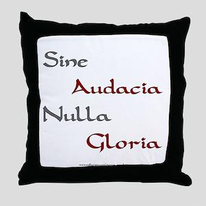 No Guts, No Glory Throw Pillow