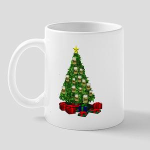 Beer ornaments christmas tree Mug