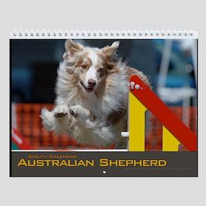 Australian Shepherd Agility Wall Calendar