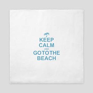 Keep Calm Go To The Beach Queen Duvet