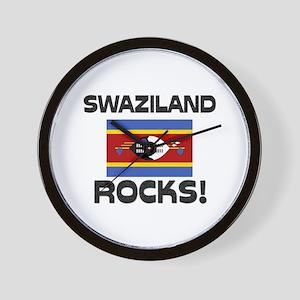 Swaziland Rocks! Wall Clock