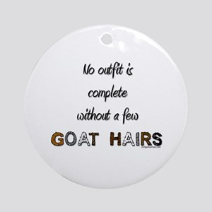 Goat hairs Ornament (Round)