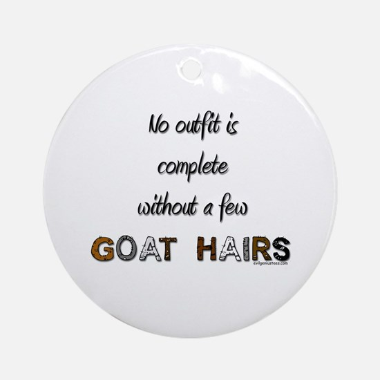Goat hairs Ornament (Round)