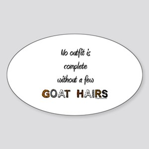 Goat hairs Oval Sticker