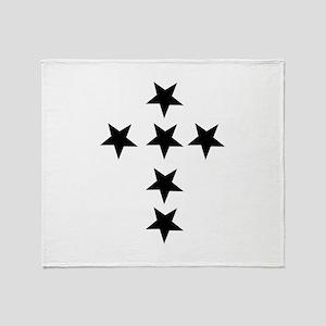 Pink Star Cross Throw Blanket