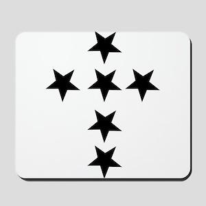 Pink Star Cross Mousepad