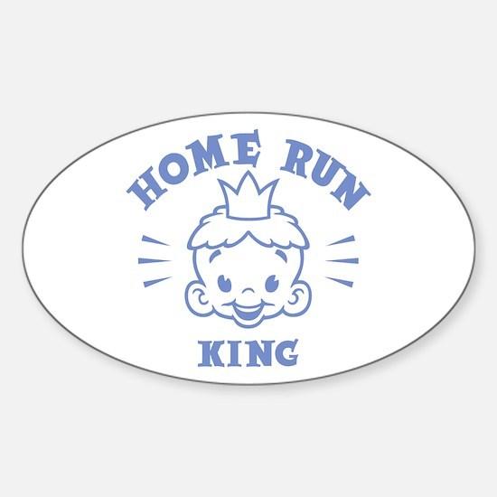 Home Run King Oval Decal
