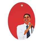 Obama Christmas Oval Ornament