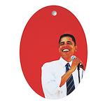 Obama Christmas Oval Ornament