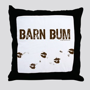 Barn bum Throw Pillow