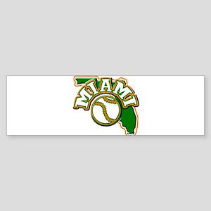Miami Baseball Bumper Sticker