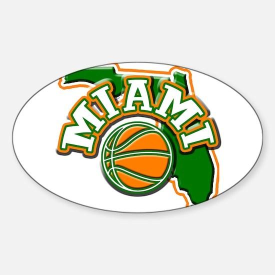 Miami Basketball Oval Decal