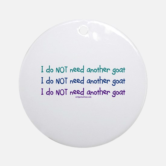 Another goat, funny Ornament (Round)