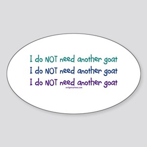 Another goat, funny Oval Sticker