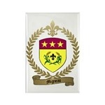 MIGNEAU Family Crest Rectangle Magnet (10 pack)