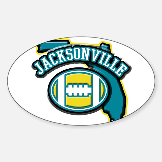 Jacksonville Football Oval Decal
